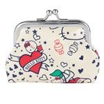 Porta Moedas Bege em PU Hello Kitty Urban