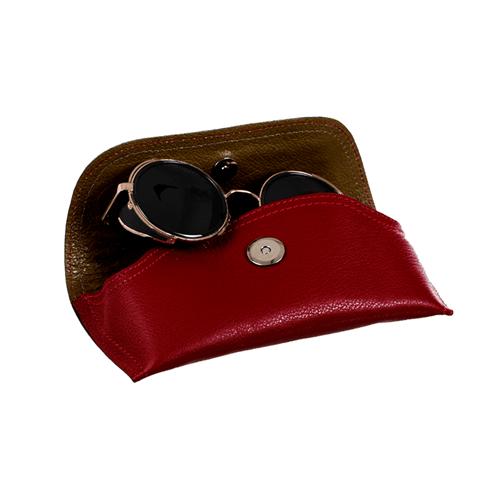 Porta Óculos de Couro VINHO