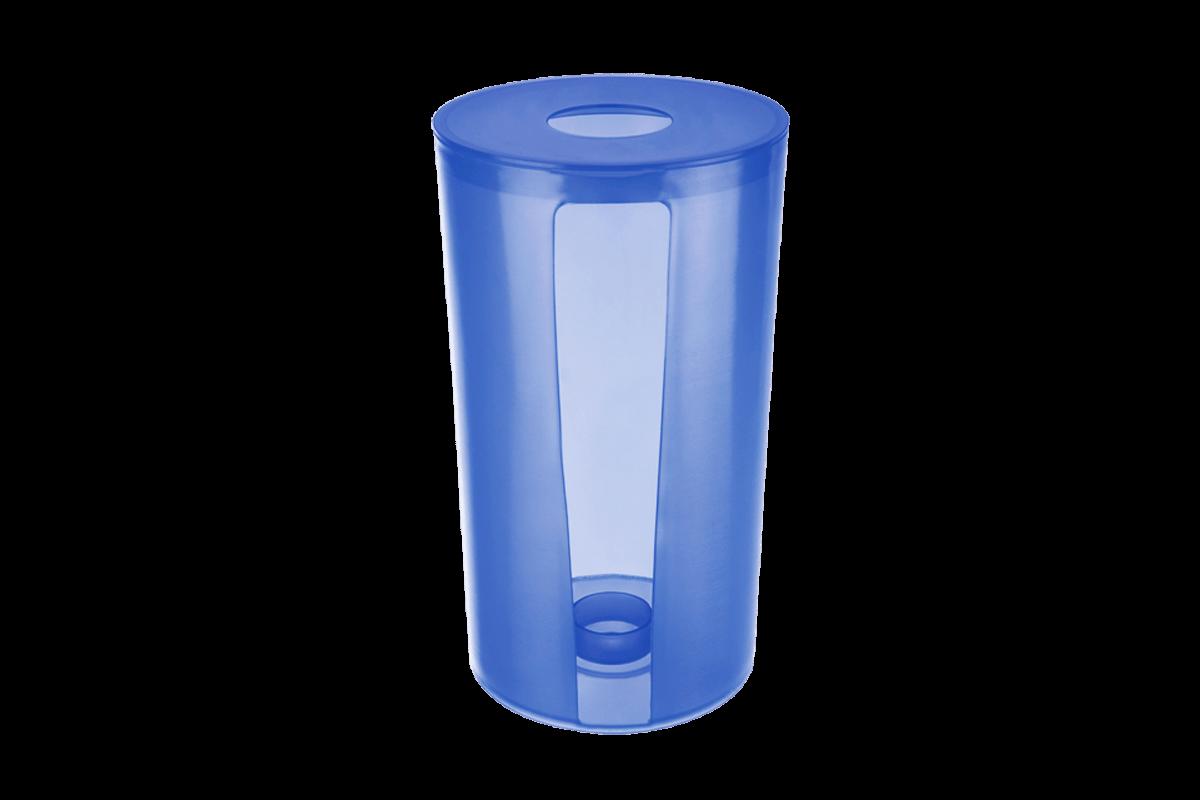 Porta Papel Toalha - Sobre a Pia PP Ø 14,3 X 25,3 Cm Azul Coza