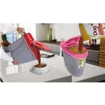 Porta Ração Dispenser para 10kg com Caneca Dosadora Plast Pet - Rosa