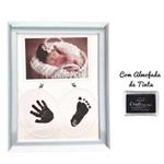 Porta Retrato Bebê Baby Inkpad Almofada Carimbo Pé 15x10 Cm