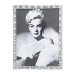 Porta Retrato Branco com Pedras para 1 Foto 10x15cm Prestige