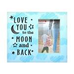 Porta Retrato de Madeira Love You com Led