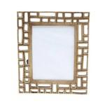 Porta Retrato de Poliresina 10x15 Corrente Dourado
