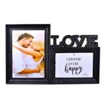 Porta Retrato Duplo Love Preto