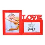 Porta Retrato Duplo Love Vermelho