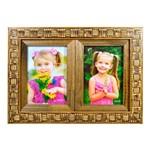 Porta Retrato Indiano Dourado 02 Fotos 10x15 Cm Moldura Mesa