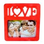 Porta Retrato Love 15x10 Vermelho Foto Fotografia Moldura
