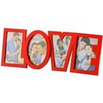 Porta-Retrato Love Vermelho (10x15) para 4 Fotos - Rojemac