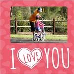 Porta-Retrato Namorados I Love You 20x20cm para 1 Foto 10x15cm - Kapos