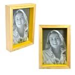 Porta Retrato Nat Amarelo 10x15 Foto Fotografia Moldura Mesa