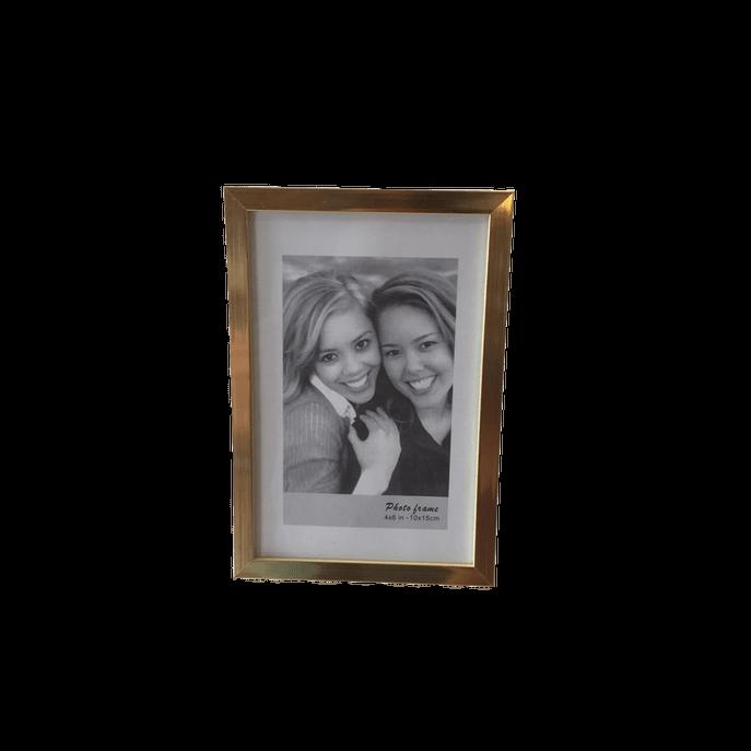 Porta Retratos Dourado Pequeno 10X15CM