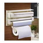 Porta Rolos 3X1 Basic Kitchen Bege
