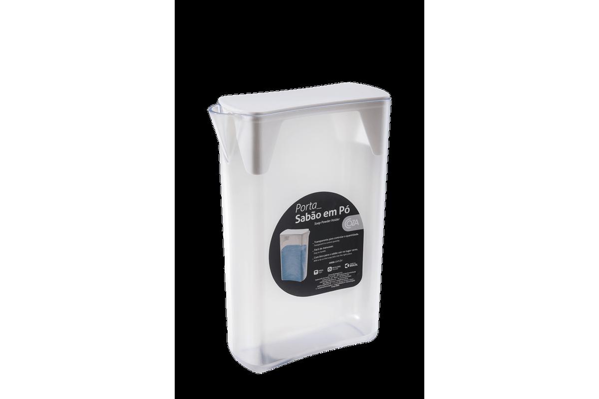 Porta-Sabão em Pó - Retrô 16,4 X 6,8 X 24 Cm Branco Coza