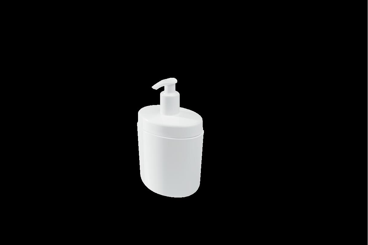 Porta-sabonete Líquido Full 450 Ml - BC 10,6 X 7,7 X 18,9 Cm Branco Coza