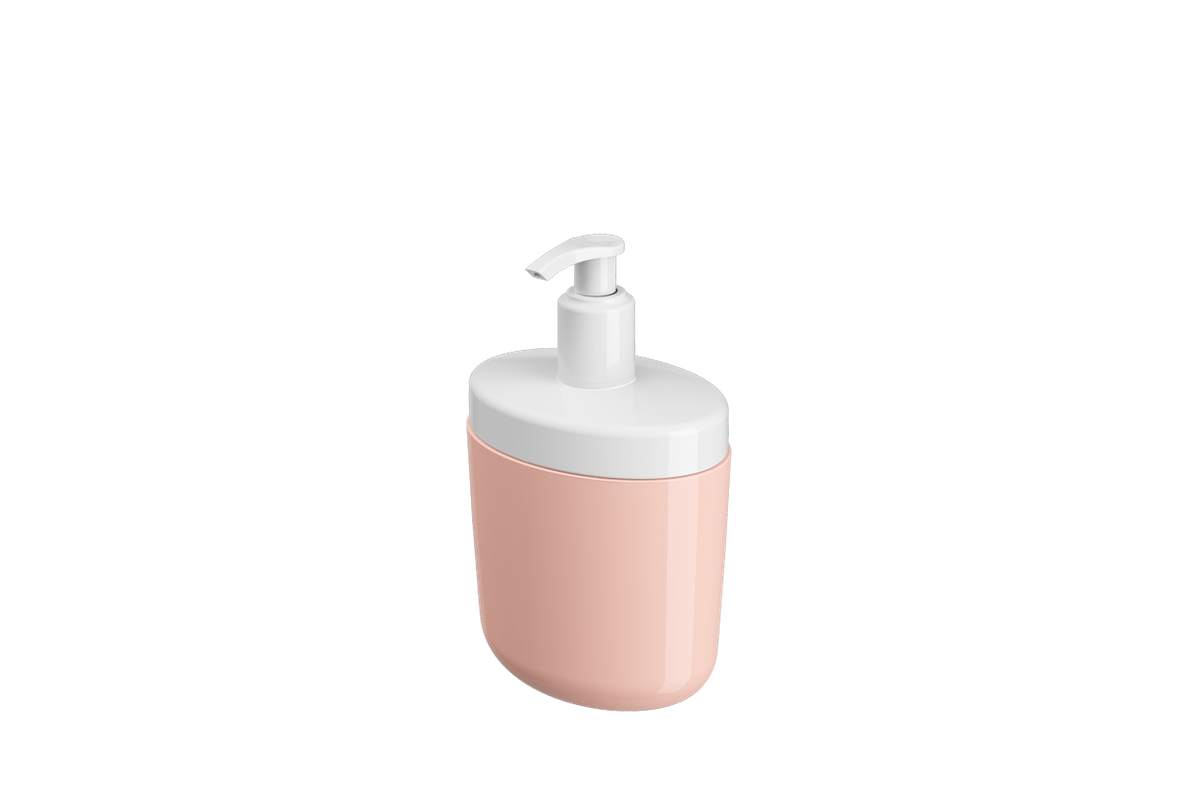 Porta-sabonete Líquido Full 450 Ml - RBL 10,6 X 7,7 X 18,9 Cm Rosa Blush Coza