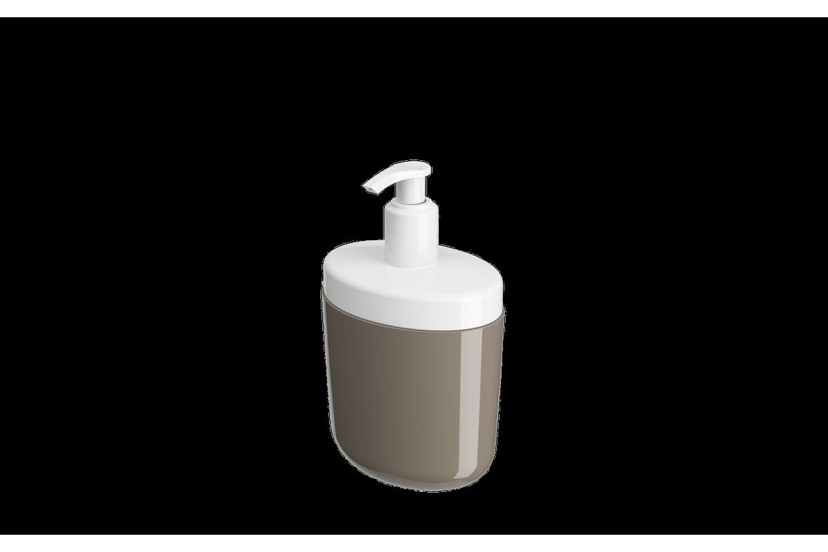 Porta-sabonete Líquido Full 450 Ml - WGR 10,6 X 7,7 X 18,9 Cm Warm Gray Coza