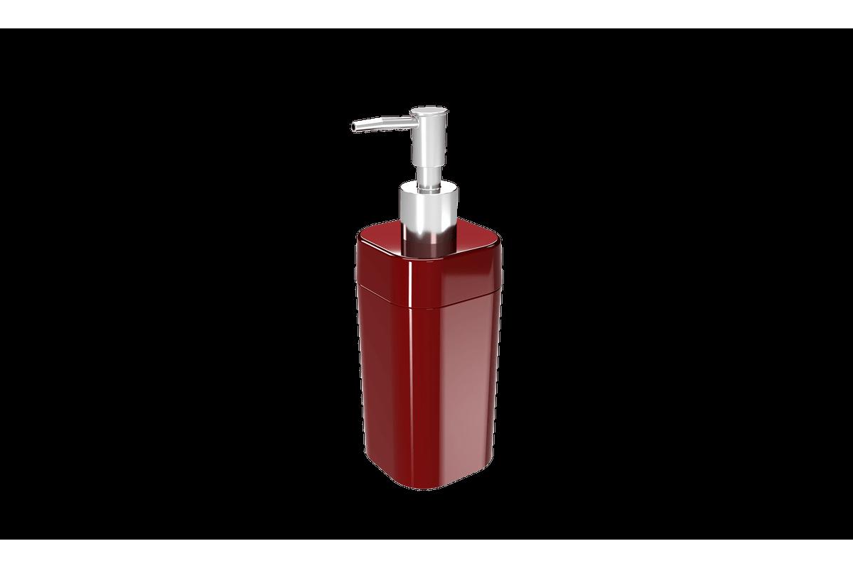 Porta-sabonete Líquido Splash - VBO 6,5 X 6,5 X 19,2 Cm 290 Ml Vermelho Bold Coza