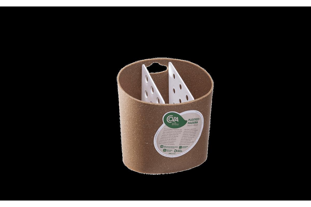 Porta-Talheres - Bios 13,8 X 10,5 X 14,4 Cm Bios com Branco Coza