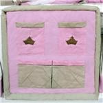 Porta Treco de Berço Princesa Luxo Rosa