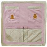 Porta Treco de Berço Realeza Luxo Rosê