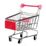 Porta-Trecos - Mini-Carrinho de Supermercado Rosa