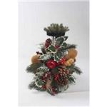 Porta Vela Cecilia Dale Decoração Natal Vermelha