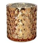 Porta Velas Diamond 8 Cm Ouro