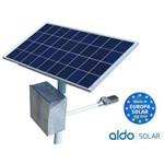 Poste Solar Gerador Energia Autonomo Aldo Solar Led 15w Painel 55w Bat 90a Bluesolar Victron Alumini