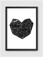 Poster Coração A2 C/ Moldura