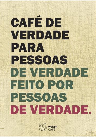 Poster Wolff Poster-café de Verdade