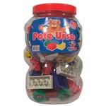 Pote Blocos de Montar Plástico Urso 80 Peças 1113