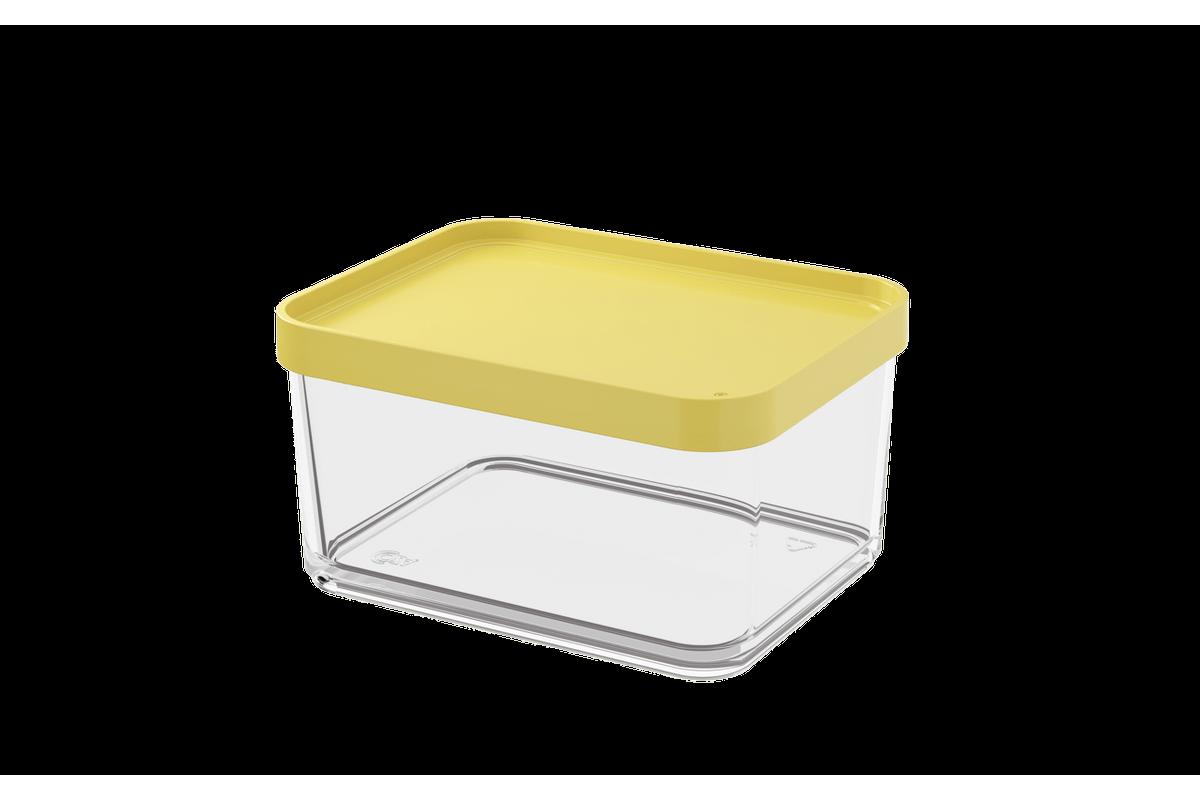 Pote Clear Grande 1L 13,1x16,7x8,5cm Amarelo Soft Coza