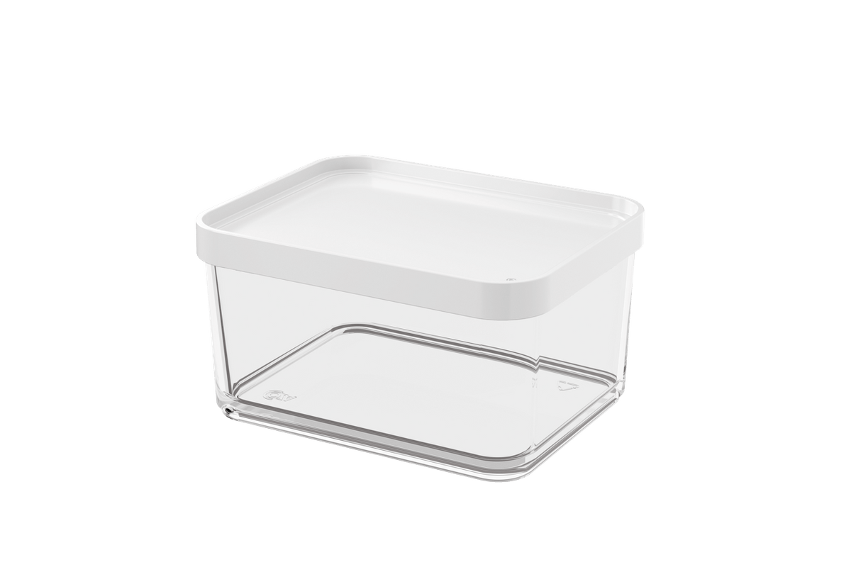 Pote Clear Grande 1L 13,1x16,7x8,5cm Branco Coza