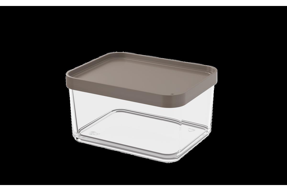 Pote Clear Grande 1L 13,1x16,7x8,5cm Warm Gray Coza