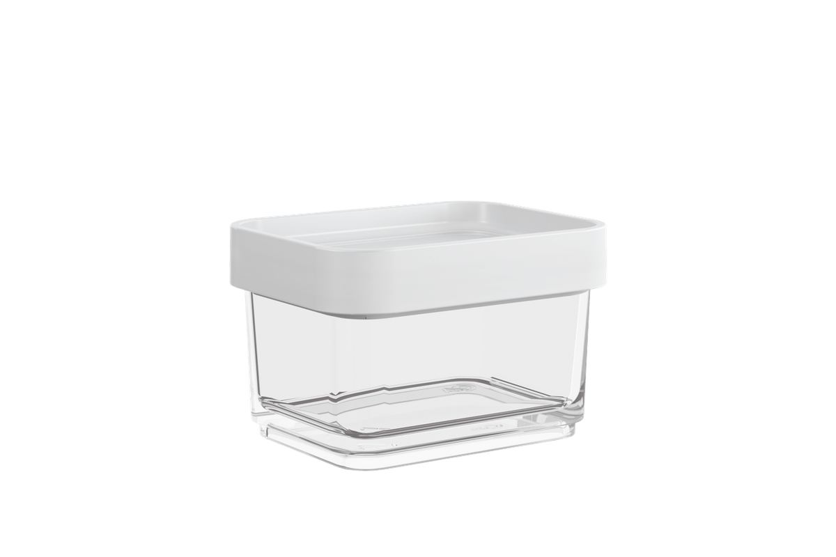 Pote Clear Micro 100ml 6,2x8x5cm Branco Coza