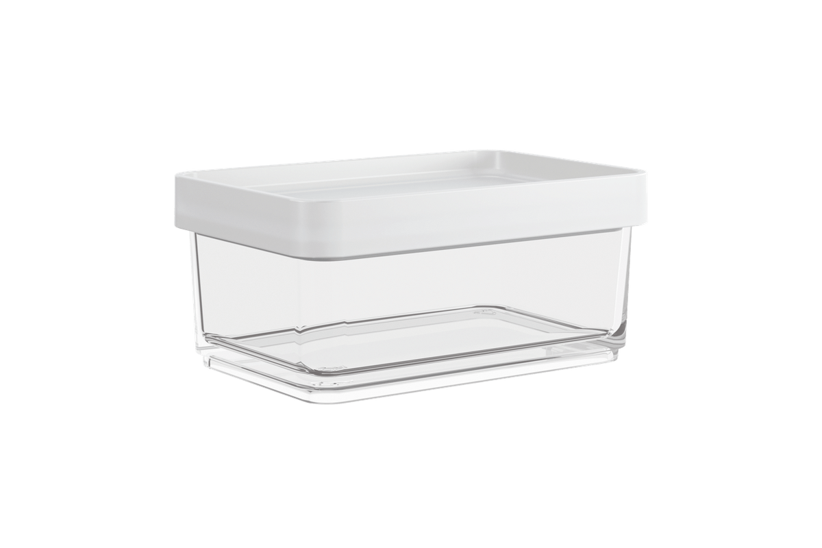 Pote Clear Mini 200ml 7,9x11,7x5cm Branco Coza
