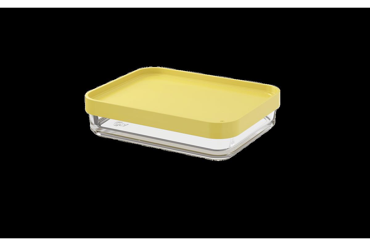 Pote Clear Uno 280ml 13,1x16,7x8,5cm Amarelo Soft Coza
