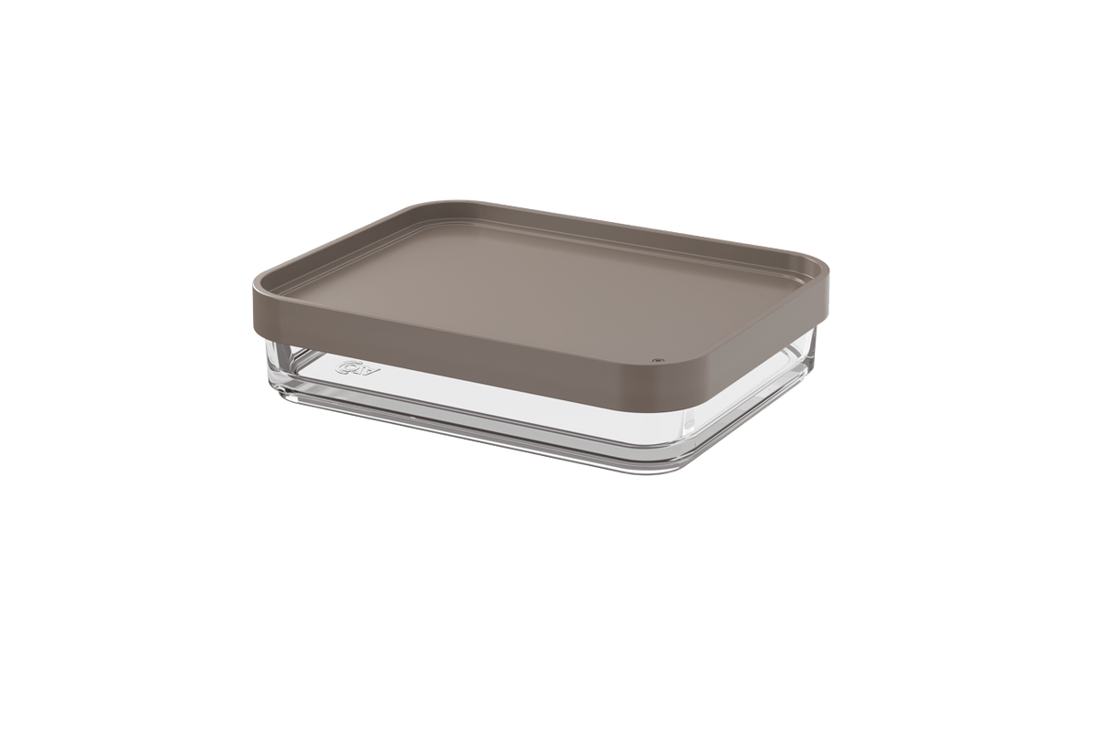 Pote Clear Uno 280ml 13,1x16,7x8,5cm Warm Gray Coza