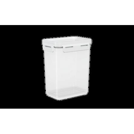 Pote Hermético Flap 900 Ml 12,5x8,7x15,7cm 12,5x8,7x15,7cm 12,5 X 8,7 X 15,7 Cm Branco Coza