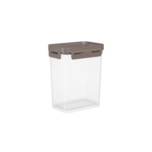 Pote Hermético Flap 900 Ml 12,5x8,7x15,7cm 12,5x8,7x15,7cm 12,5 X 8,7 X 15,7 Cm Warm Gray Coza