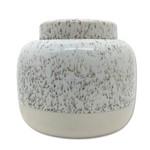 Pote Pearl Cerâmica Branco 13CM - 33925