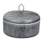 Potiche Cerâmica Cinza 6x16cm - Occa Moderna