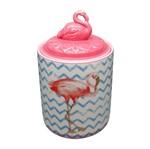 Potiche de Cerâmica Rosa Flamingo Lid Grande Urban