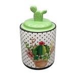 Potiche de Cerâmica Verde Cactus Lid Grande Urban