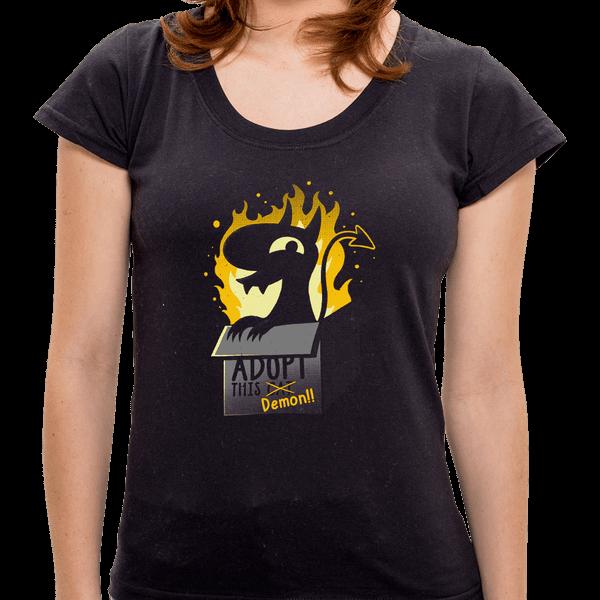PR - Camiseta Adopt This Demon - Feminina - P