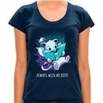 PR - Camiseta Always With My Book - Feminina - P