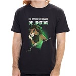 PR - Camiseta Cercado por Idiotas - Masculina - P