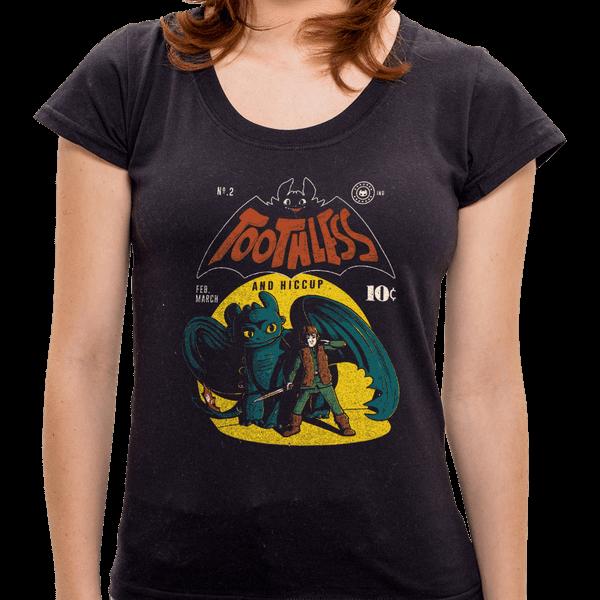 PR - Camiseta Toothless - Feminina - P