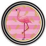 Prato 18 Cm Descartável Flamingo com 08 Un.
